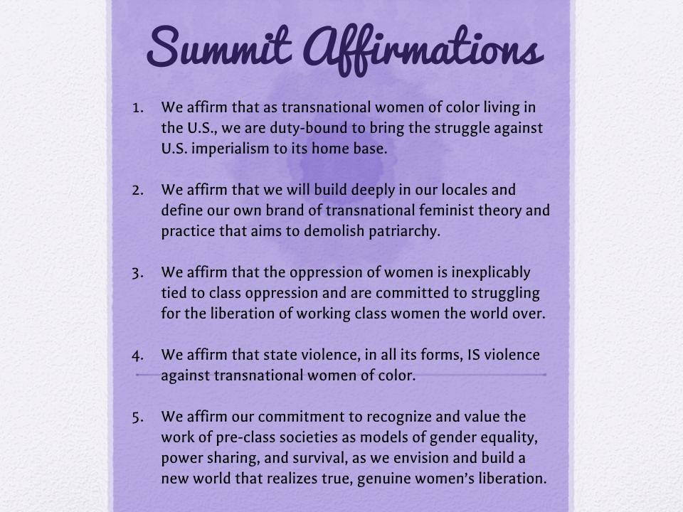 Affirmations for Summit 2014